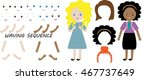 schoolgirls animation pack.... | Shutterstock .eps vector #467737649