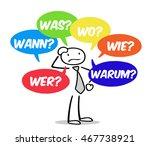 cartoon man asking german... | Shutterstock . vector #467738921