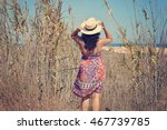 A Young Woman Going To The...