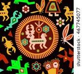 mexican seamless pattern.... | Shutterstock .eps vector #467745077