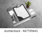branding stationery mockup... | Shutterstock . vector #467745641