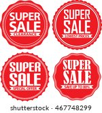 super sale red label set ... | Shutterstock .eps vector #467748299