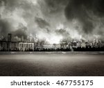 gray gloomy view of city on... | Shutterstock . vector #467755175