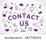 contact us icons set   isolated ...