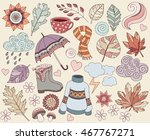 spring  summer or autumn vector ... | Shutterstock .eps vector #467767271