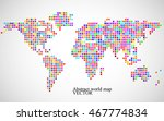 Abstract World Map From...