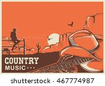 american country music poster... | Shutterstock .eps vector #467774987