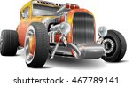 hot rod fully editable | Shutterstock .eps vector #467789141