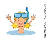child swim water wings | Shutterstock .eps vector #467792264