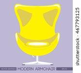 yellow modern armchair over...