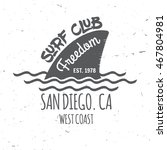 set of surf club concept vector ... | Shutterstock .eps vector #467804981