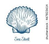 seashell  sea shell  nature... | Shutterstock .eps vector #467823614