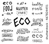 eco friendly labels. set of... | Shutterstock .eps vector #467824451