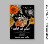 wedding invitation or card with ... | Shutterstock .eps vector #467824745