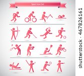 sports icon set | Shutterstock .eps vector #467826161