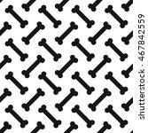 seamless bone pattern | Shutterstock .eps vector #467842559