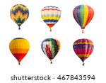 colorful hot air balloons... | Shutterstock . vector #467843594