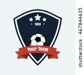 vector logo icon of football...   Shutterstock .eps vector #467844635