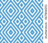 ikat pattern seamless... | Shutterstock .eps vector #467846051