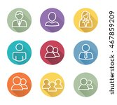 standard user icon set with men ... | Shutterstock .eps vector #467859209