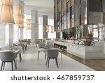 3d rendering nice restaurant... | Shutterstock . vector #467859737