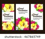 vintage delicate invitation... | Shutterstock . vector #467865749