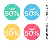 50 percent off. sale and... | Shutterstock .eps vector #467868575