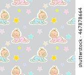 baby toddler girl and boys... | Shutterstock . vector #467878664