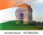 merged shot of colorful indian...   Shutterstock . vector #467883281