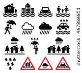 flood  natural disaster  heavy... | Shutterstock .eps vector #467886851