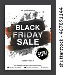 black friday sale flyer  sale... | Shutterstock .eps vector #467891144