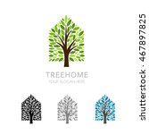 tree house logo template.... | Shutterstock .eps vector #467897825