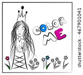 color me fairy princess making... | Shutterstock .eps vector #467901041