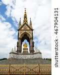 Small photo of Prince Albert Memorial Statue in London, England