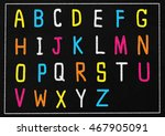 letters a to z on a chalkboard. | Shutterstock . vector #467905091