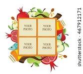 symbols of jewish holiday rosh...   Shutterstock .eps vector #467912171