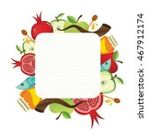 symbols of jewish holiday rosh... | Shutterstock .eps vector #467912174
