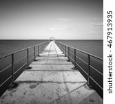 The Jetty In Black And White