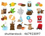 coffee theme set of icons.... | Shutterstock .eps vector #467923097