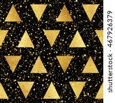 gold triangles with splash or... | Shutterstock .eps vector #467926379