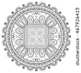 black and white geometric lace...   Shutterstock .eps vector #467926415