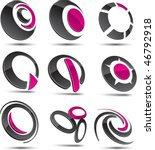 set of 3d vector icons such... | Shutterstock .eps vector #46792918