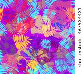 tropical aloha pattern. vector... | Shutterstock .eps vector #467934431