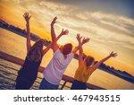 friends feeling free. | Shutterstock . vector #467943515