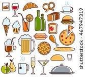 set of universal standard new... | Shutterstock .eps vector #467947319