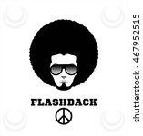 retro man in 1970s hairstyle.... | Shutterstock .eps vector #467952515