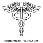 an illustration of the caduceus ... | Shutterstock .eps vector #467965325