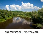 river and forest in latvia | Shutterstock . vector #46796758