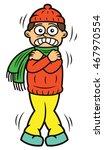 man shivering cartoon character ... | Shutterstock .eps vector #467970554