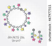 jewelry set vector. charms... | Shutterstock .eps vector #467977511